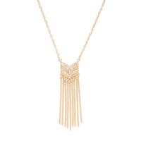 Model Content for SLATE Layla Fringe Pendant  in Gold