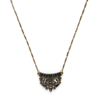 Model Content for Perry Street Tori Crystal Pendant Necklace