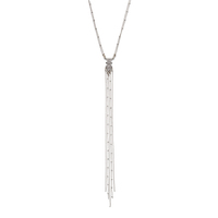 Model Content for SLATE Lilly Lariat Necklace in Silver