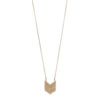 Model Content for SLATE Demi Chevron Pendant Necklace