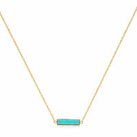 Model Content for Gorjana Dez Bar Necklace in Gold and Turquoise