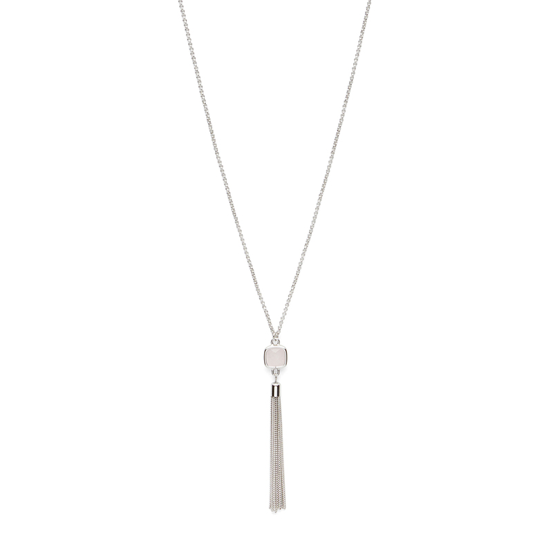 Sophie Harper Millie Stone Pendant in Silver