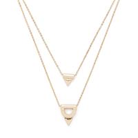 Model Content for SLATE Tatum Double Pendant Necklace