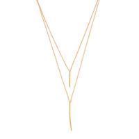 Model Content for Gorjana Kiernan Double Pendant Necklace in Gold