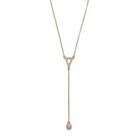 Model Content for Sophie Harper Pavé Triangle Y Necklace