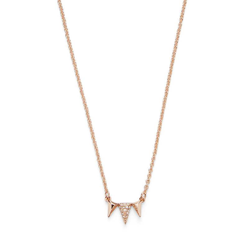 Model Content for Sophie Harper Jordana Necklace in  Rose Gold