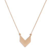 Model Content for SLATE Chevron Pendant Necklace