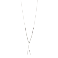Model Content for Gorjana Power Gemstone Necklace in Silver and Howlite