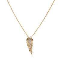 Model Content for House of Harlow 1960 Aquila Wing Pendant Necklace in Gold