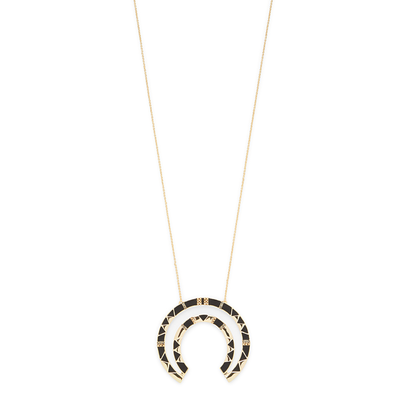 House of Harlow 1960 Nelli Pendant Necklace in Black
