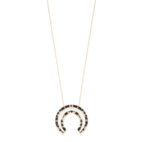 Model Content for House of Harlow 1960 Nelli Pendant Necklace in Black