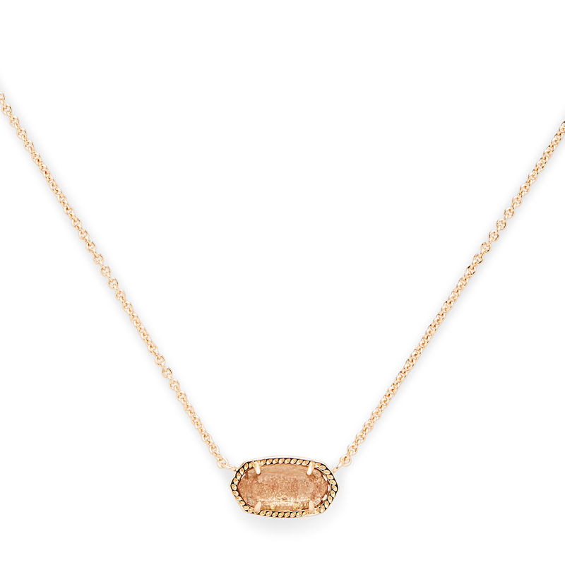 Model Content for Kendra Scott Elisa Necklace in Gold Dusted Glass