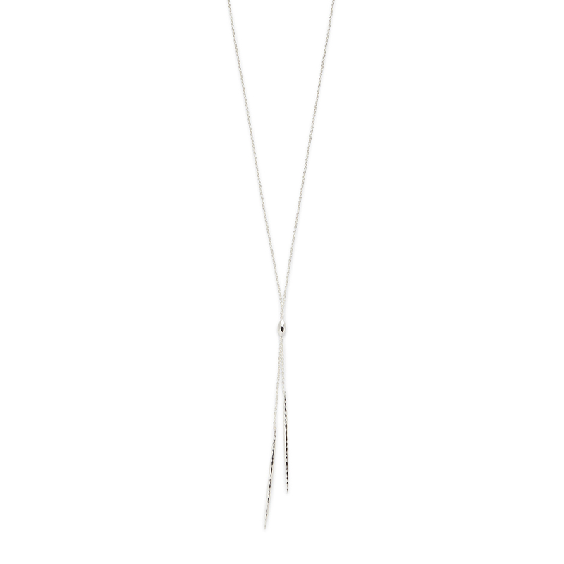 Gorjana Nora Long Lariat in Silver