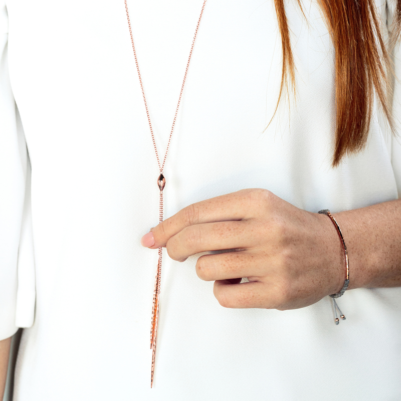 User Generated Content for Gorjana Nora Long Lariat in Rose Gold