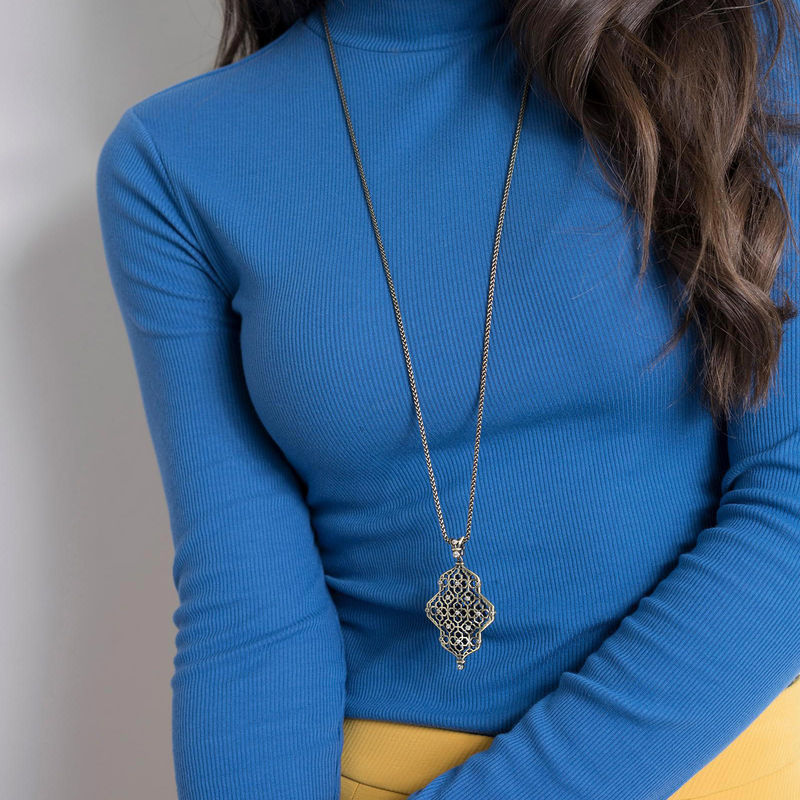 User Generated Content for Kendra Scott Kathy Adjustable Necklace in Antique Brass with Pavé