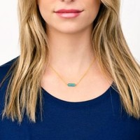 User Generated Content for Gorjana Dez Bar Necklace in Gold and Turquoise