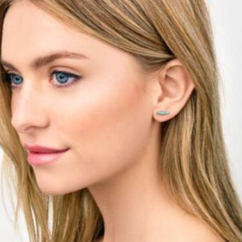 User Generated Content for Gorjana Dez Bar Studs in Gold and Turquoise