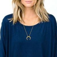 User Generated Content for Gorjana Cayne Crescent Pendant Necklace