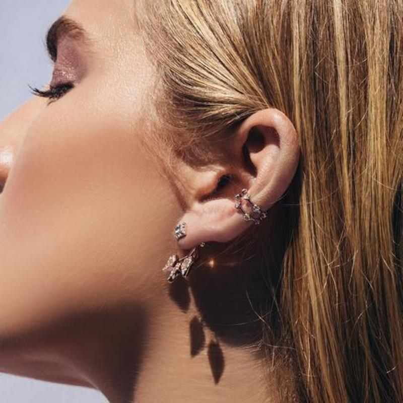 User Generated Content for Luv AJ Pavé Hex Ear Cuff in Silver