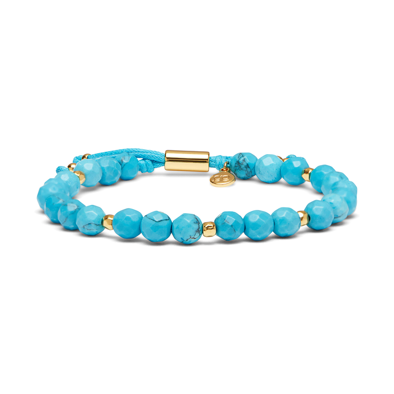 User Generated Content for Gorjana Power Gemstone Beaded Bracelet in Turquoise and Gold