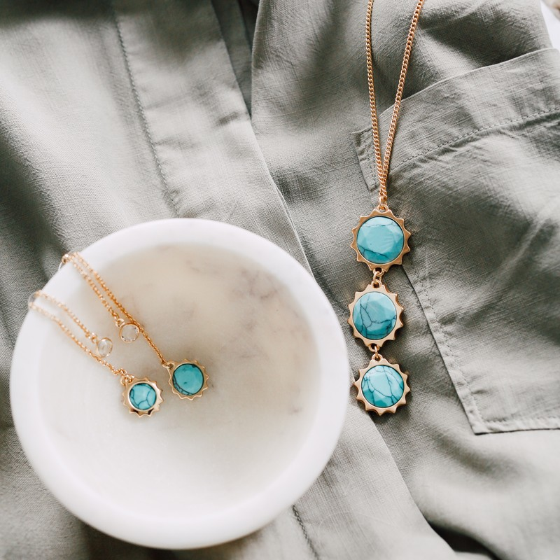 User Generated Content for Aster Birch Drop Earrings in Turquoise