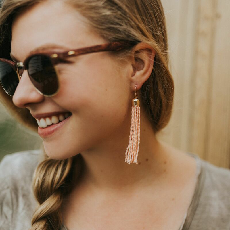 User Generated Content for WILDE Sayulita Fringe Earrings in Gold and Peach