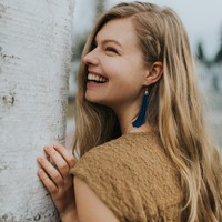 User Generated Content for WILDE Sayulita Fringe Earrings in Silver and Cobalt