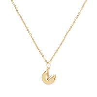 Model Content for Sophie Harper Fortune Cookie Necklace in Gold