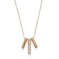 Model Content for Sophie Harper Pavé Bar Trio Necklace
