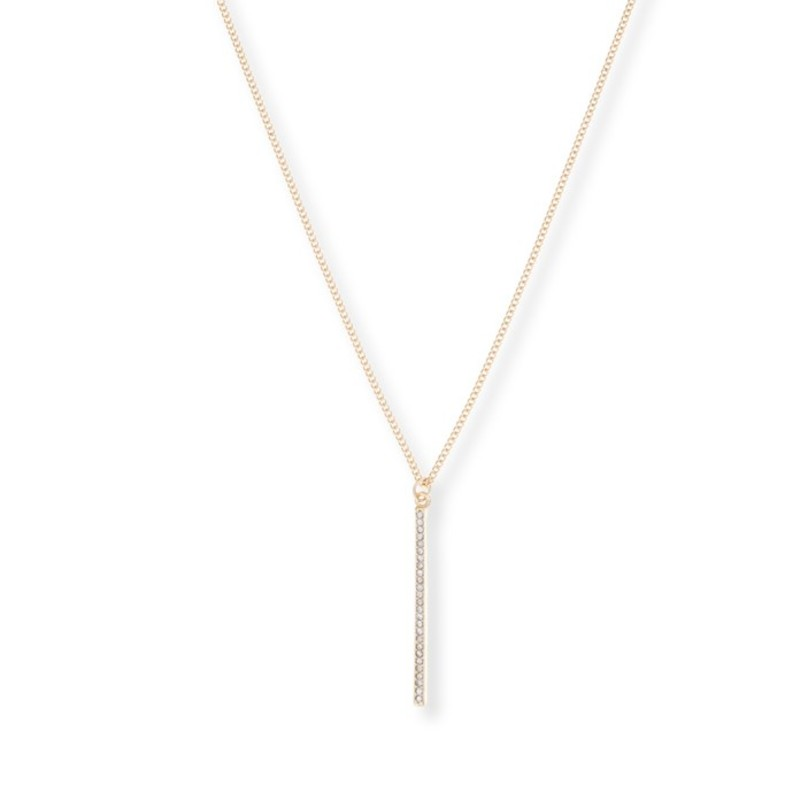 Sophie Harper Pave Pendant Necklace in Gold