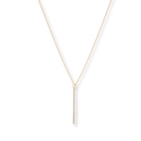 Model Content for Sophie Harper Pave Pendant Necklace in Gold
