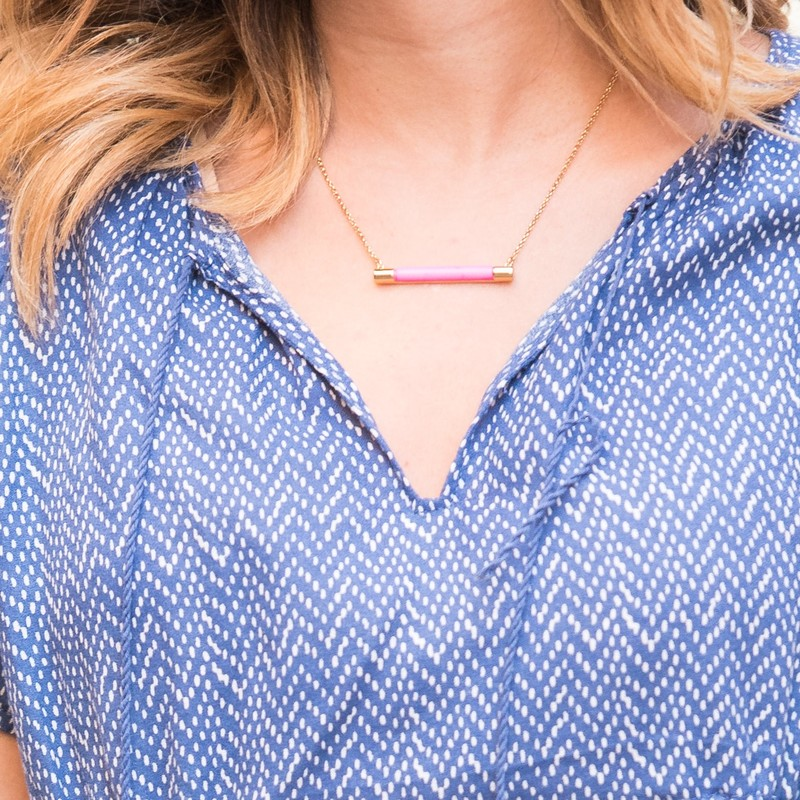 User Generated Content for Kate Spade Building Blocks Bar Pendant in Pink