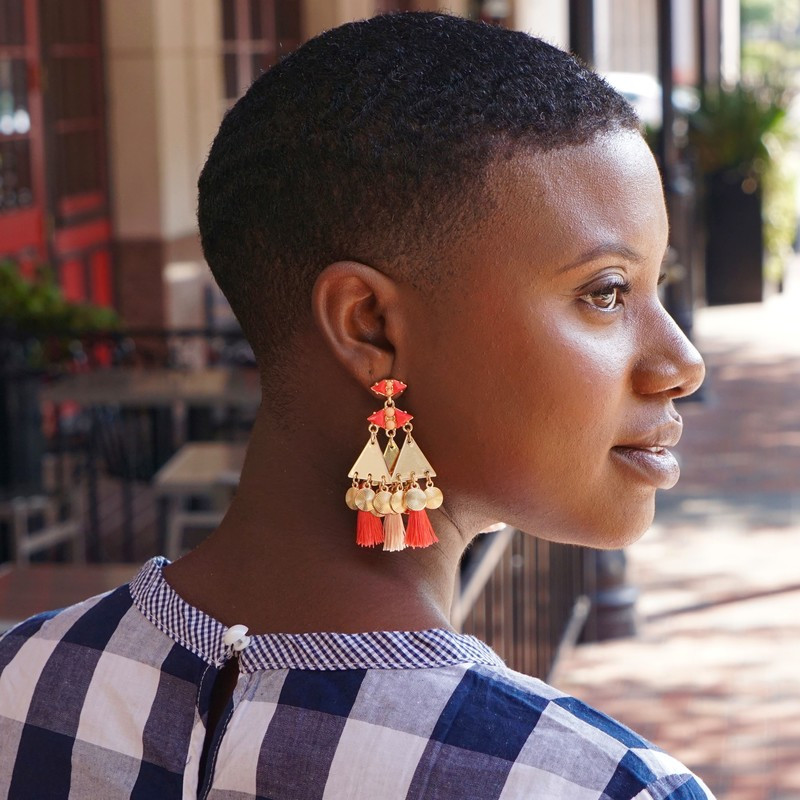 User Generated Content for WILDE Marrakesh Earrings in Gold and Coral