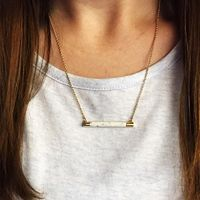 User Generated Content for Kate Spade Building Blocks Bar Pendant in White