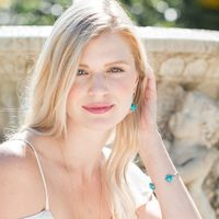 User Generated Content for Ava Rose Berkeley Earrings in Gold and Copper Turquoise