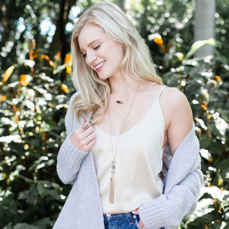 User Generated Content for Ava Rose Chandler Necklace in Gold and Rutilated Quartz