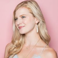 User Generated Content for Ava Rose Austin Earrings in Gold and Mother of Pearl