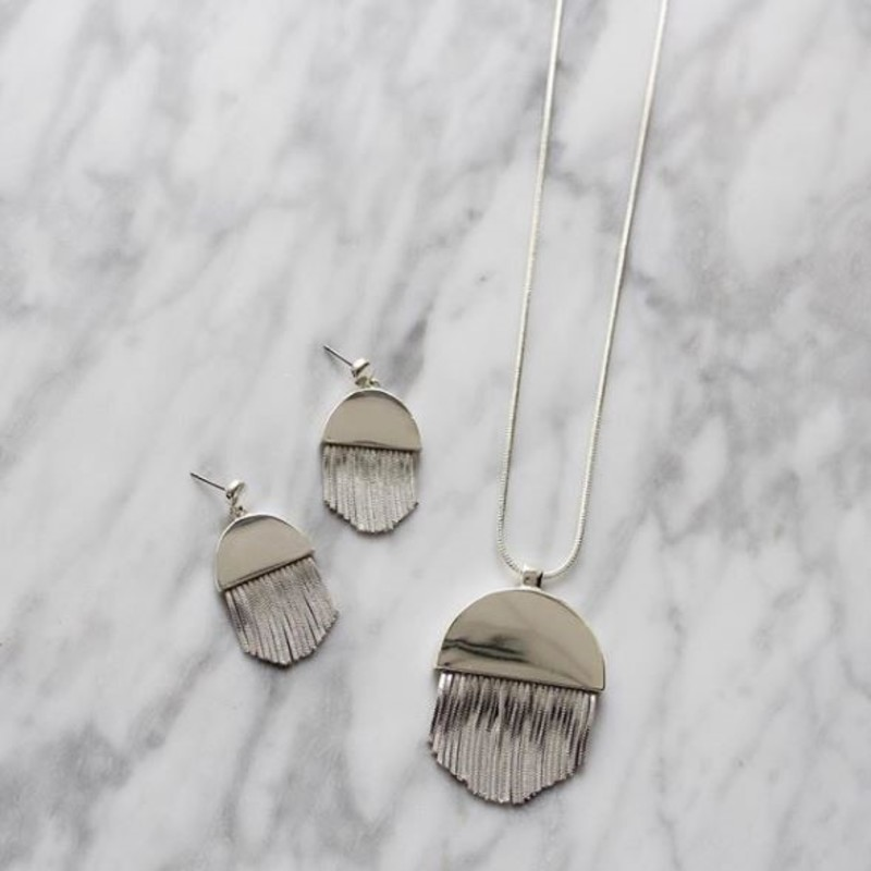 User Generated Content for SLATE Maude Drop Earrings in Silver