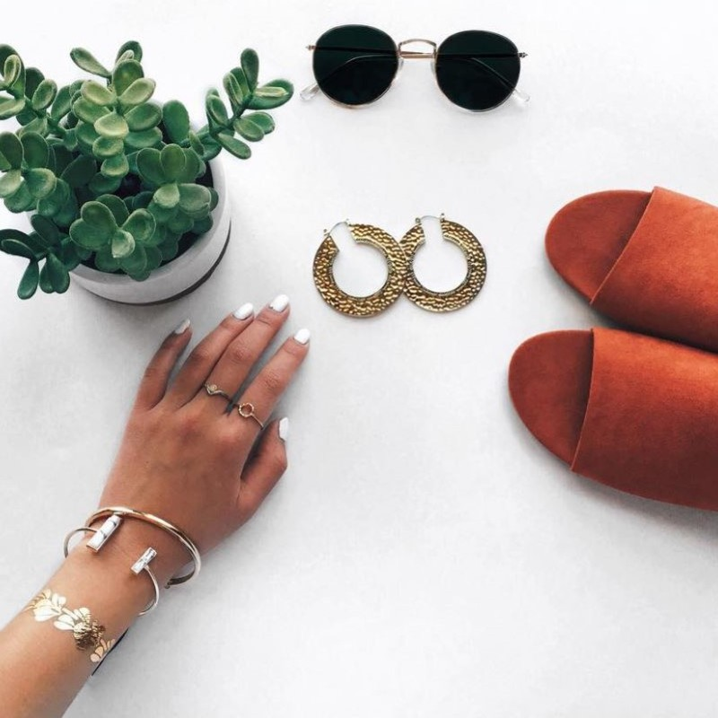 User Generated Content for House of Harlow 1960 Helicon Hoop Earrings in Gold