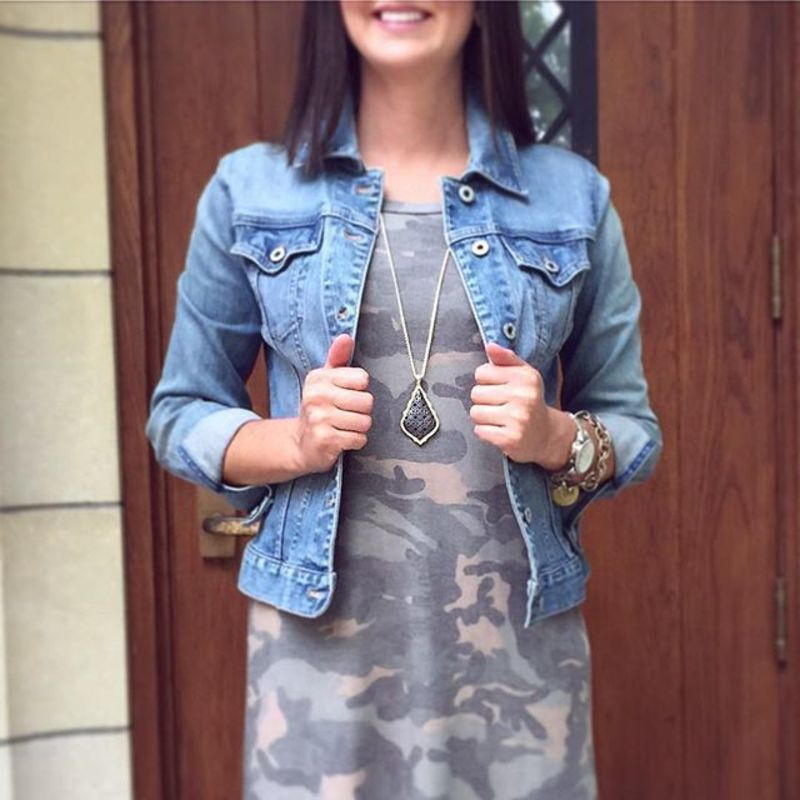 User Generated Content for Kendra Scott Aiden Necklace in Gold and Gunmetal