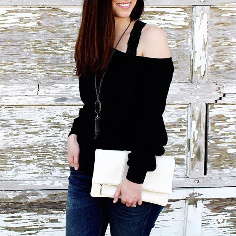 User Generated Content for Kendra Scott Rayne Necklace in Gunmetal and Black