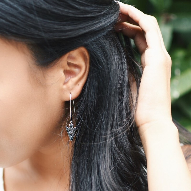 User Generated Content for Rudiment Anina Earrings in Silver with Gunmetal
