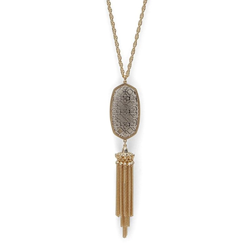 Kendra Scott Rayne Necklace in Gold and Silver Filigree