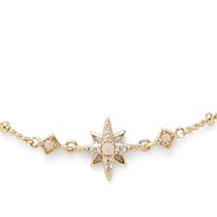 Model Content for Rudiment Little Star Necklace in Gold