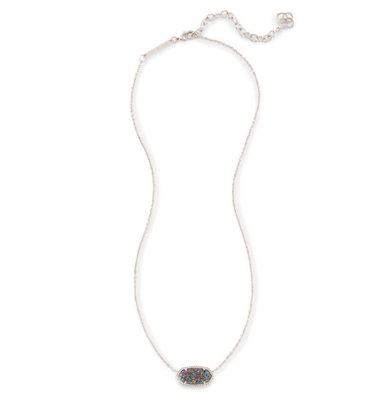 User Generated Content for Kendra Scott Elisa Necklace in Rhodium and Multi Druzy
