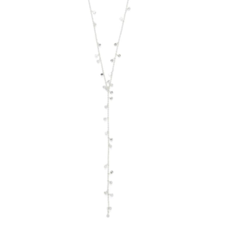 Gorjana Chloe Mini Lariat in Silver