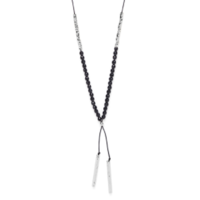 Model Content for Gorjana Power Gemstone Necklace in Silver and Black Onyx