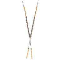 Model Content for Gorjana Power Gemstone Necklace in Gold and Black Onyx