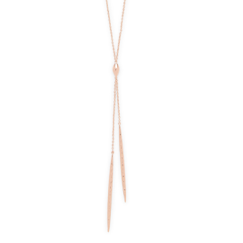 Gorjana Nora Long Lariat in Rose Gold