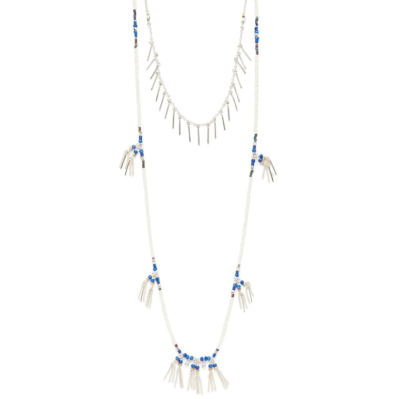 Nakamol Blue and White Beaded Layer Necklace